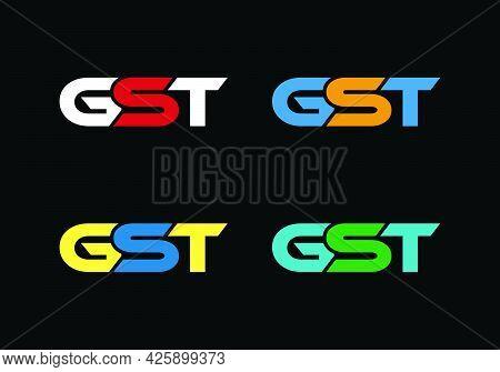 Initial Monogram Letter Gst Logo Design Vector Template G S T Letter Logo Design