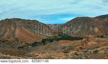 Panorama of mountains in Gran Canaria islands