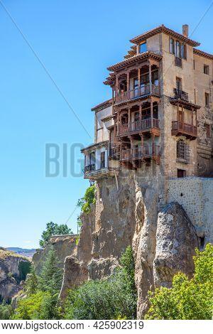 Hanging houses in Cuenca (Casas Colgadas), Castilla-La Mancha, Spain. Landmark