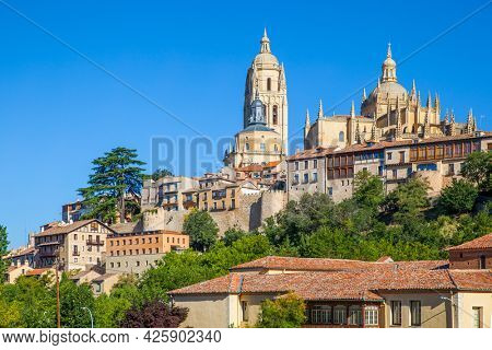 The Old town of Segovia in Spain
