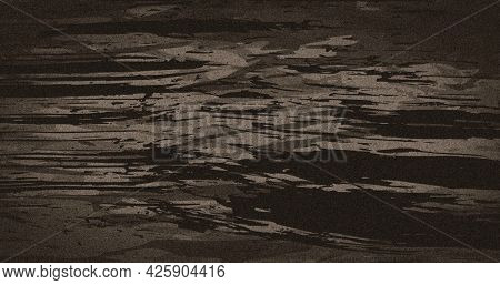 Image of dark brown abstract smudges moving fast on light brown background. colour and movement concept digitally generated image.