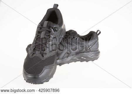 Toulouse , Ocitanie France  - 06 30 2021 : Asics Logo Brand And Text Sign On Sport Sneaker Black Tra