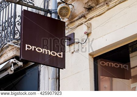 Toulouse , Ocitanie France  - 06 30 2021 : Promod Logo Brand Store Of French Shop Text Sign Of Women