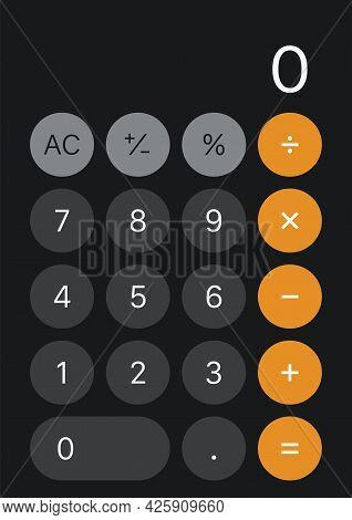 Calculater Interface Buttons. Vector Illustration Graphic Design
