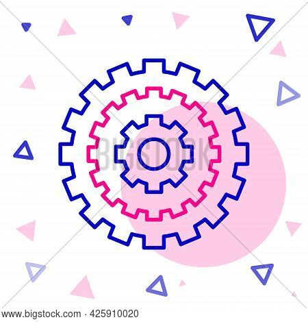 Line Bicycle Cassette Mountain Bike Icon Isolated On White Background. Rear Bicycle Sprocket. Chainr