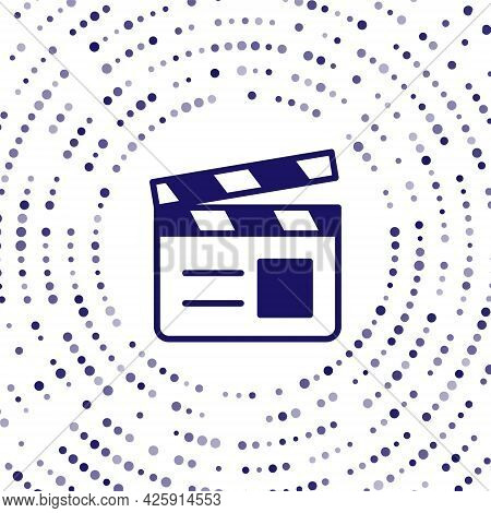 Blue Movie Clapper Icon Isolated On White Background. Film Clapper Board. Clapperboard Sign. Cinema