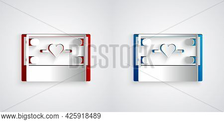 Paper Cut Donation And Charity Icon Isolated On Grey Background. Donate Money And Charity Concept. P