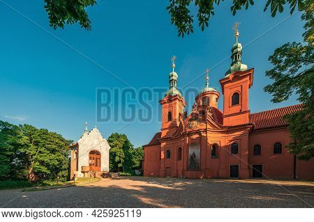 The Church Of Saint Lawrence In Prague Is A Church Of The Old Catholic Church Of The Czech Republic.