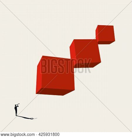 Business Career Growth Opportunity Vector Symbol. Symbol Of Ambition, Motivation, Achievement, Succe