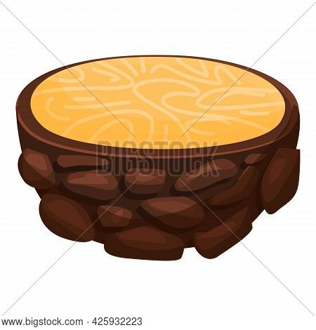 Cutted Truffle Icon Cartoon Vector. Fungus Mushroom. Cooking Fungi