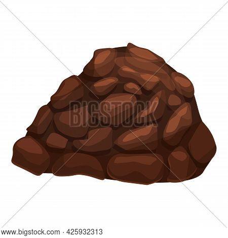 Restaurant Truffle Icon Cartoon Vector. Mushroom Fungus. Cooking Truffle