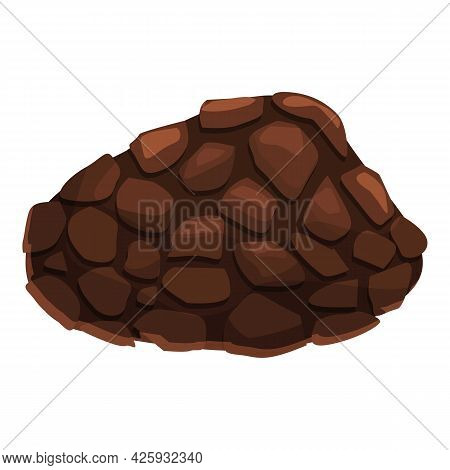 Vegetable Truffle Icon Cartoon Vector. Mushroom Fungus. Cooking Fungi Truffle