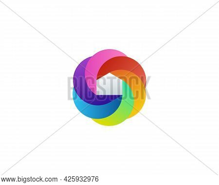 Abstract House Shutter Logo Icon Design Modern Illustration. Home Mansion Property Vibrant Gradient