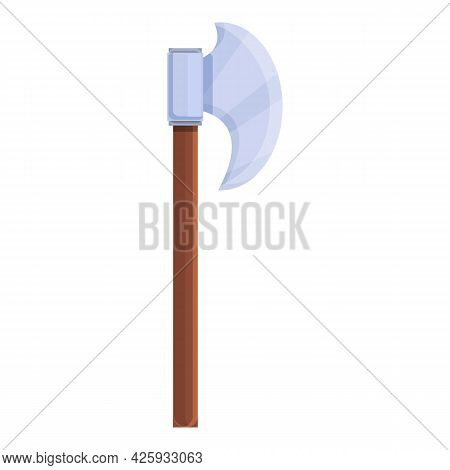 Medieval Axe Icon Cartoon Vector. Battle Weapon. War Viking Ax