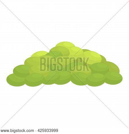 Green Lentil Pile Icon Cartoon Vector. Green Lentil Vegetable. Pile Of Bean Plant Seed