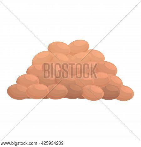 Pile Of Lentil Icon Cartoon Vector. Bean Sack. Lentil Vegetable Seed