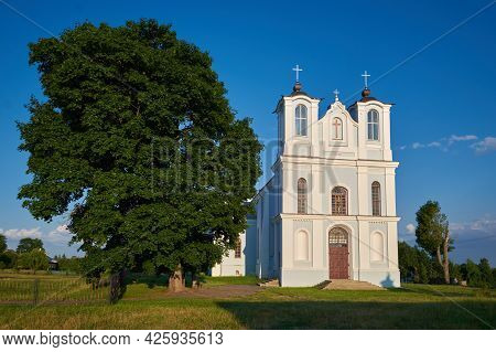 Church Of The Annunciation Of The Blessed Virgin Mary In Vishnevo Village, Minsk Region.