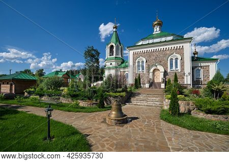 Old Antique Temple Of Saints Unmercenaries And Wonderworkers Cosma And Damian In Vishnevo Village, M