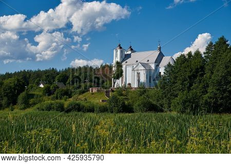 Old Ancient Church Of The Annunciation Of The Blessed Virgin Mary In Vishnevo Village At Summer Land
