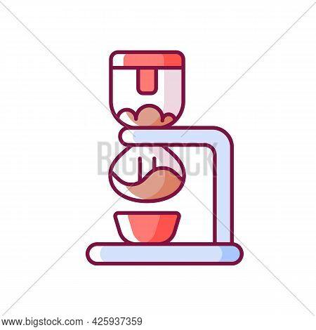Syphon Coffee Maker Rgb Color Icon. Vacuum Brewer. Siphon For Preparing Espresso. Coffee Shop Equipm