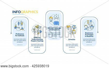Asd Signs Vector Infographic Template. Preference To Loneliness Presentation Outline Design Elements