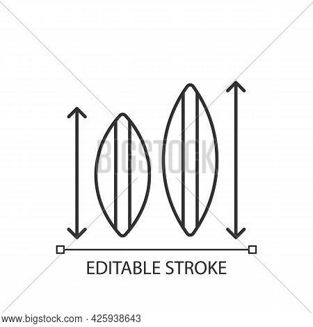Choosing Surfboard Size Linear Icon. Depending On Surfer Weight, Abilities. Shortboard, Longboard. T