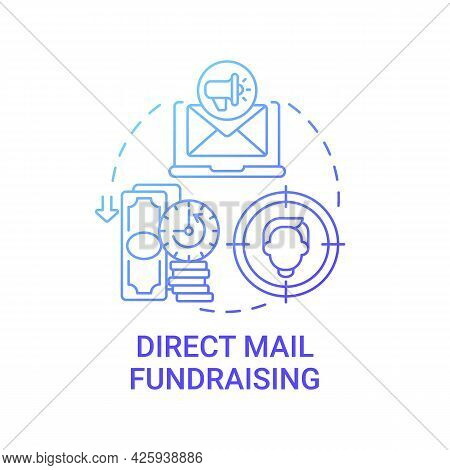 Direct Mail Fundraising Concept Icon. Charity Event Abstract Idea Thin Line Illustration. Nonprofit