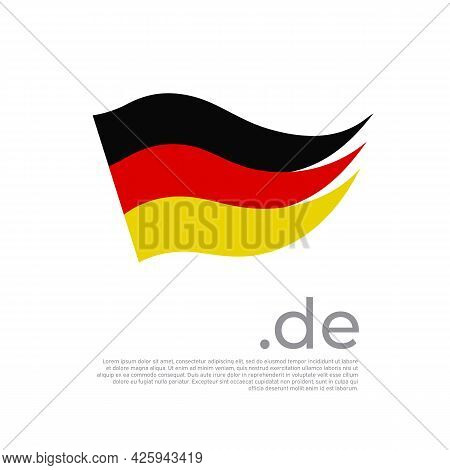 German Flag Brush Strokes. Stripes In Colors Of Flag Of Germany On A White Background. Vector Nation