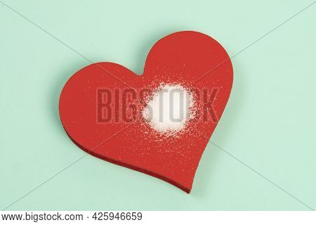 Excess Salt In The Heart Symbolized By A Heart Shape