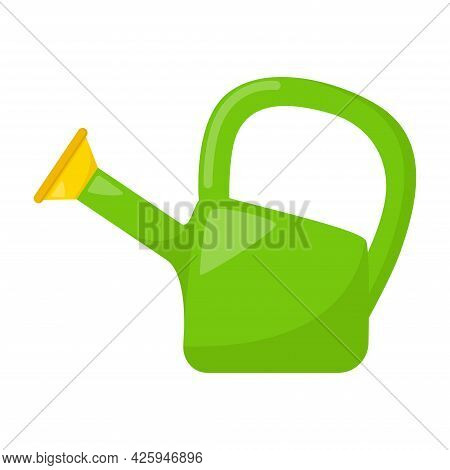 Kid Toy Watering Can On White Background, Vector Illustration