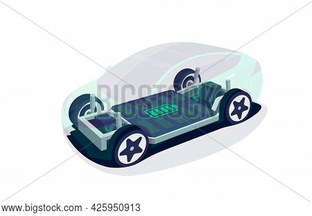 Electric Car Chassis With High Energy Battery Cells Pack Modular Platform..