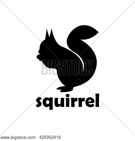 Squirrel Animal Silhouette Design Vector. Squirrel Animal Vector