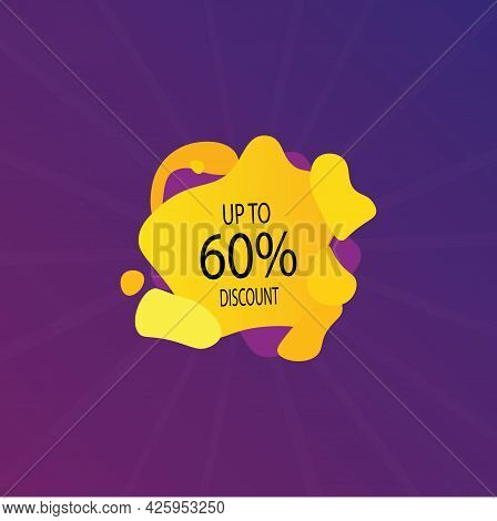 Percentage Discount Banner Icon.10 20 30 40 50 60 70 80 90 Percent Sale. Vector Illustration Eps 10
