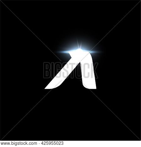 A Letter Logo, Bold Italic Letter For Automotive, Speed Race, Sport Label Design And Dynamic Monogra