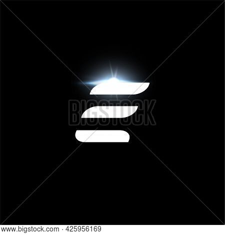 E Letter Logo, Bold Italic Letter For Automotive, Speed Race, Sport Label Design And Dynamic Monogra