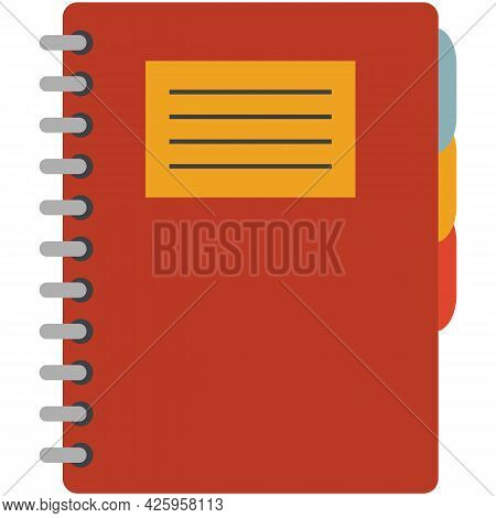 Notebook Closed Vector Diary Icon Isolated On White