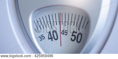 Asians Foot Man With Body Weight Scales For Measure Weight Loss.weighing Scale To Healthy Slimming C