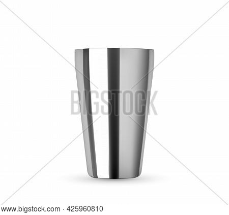 Types Of Cocktail Shakers. Bartending Equipment Realistic Mockup Isolated On White Background. Bosto