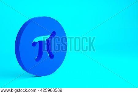 Blue Pi Symbol Icon Isolated On Blue Background. Minimalism Concept. 3d Illustration 3d Render