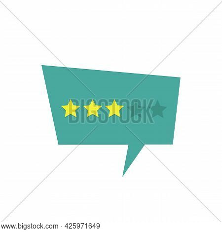 Three Stars Rate On The Rate Feedback Concept. Stock Vector