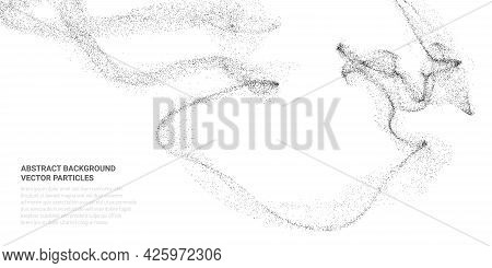 Abstract 3d Image With Particle Flow Movement