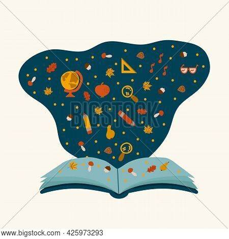 Read An Open Book. Educational Literature To Learn A New World. The Concept Of Childrens Education F