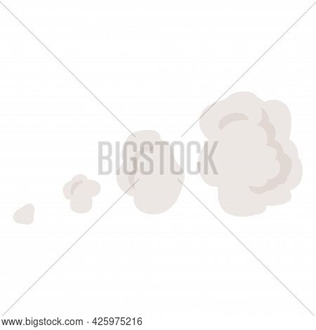 Cartoon Explosion, Steam Clouds, Puff, Mist, Fog, Watery Vapour. Special Effect.