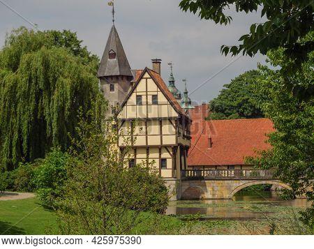 castle and garden at  steinfurt in westphalia