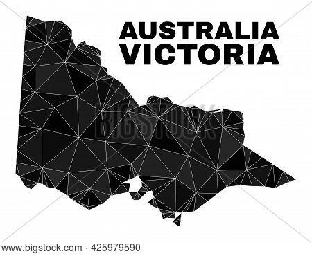 Lowpoly Australian Victoria Map. Polygonal Australian Victoria Map Vector Designed From Random Trian