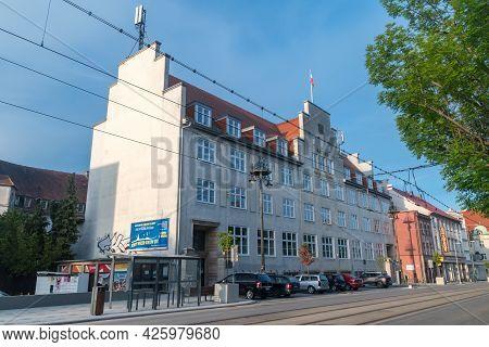 Gorzow Wielkopolski, Poland - June 1, 2021: Building Of Gorzow Wielkopolski City Hall.