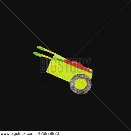 Garden Tools Wheelbarrow For Cultivating The Land In The Garden Or On The Plot To Facilitate The Tra