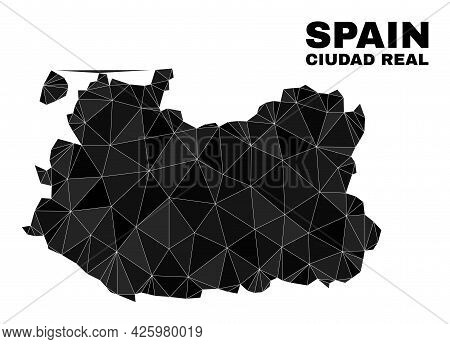 Low-poly Ciudad Real Province Map. Polygonal Ciudad Real Province Map Vector Is Designed From Random