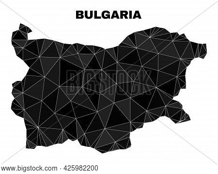 Low-poly Bulgaria Map. Polygonal Bulgaria Map Vector Constructed From Random Triangles. Triangulated