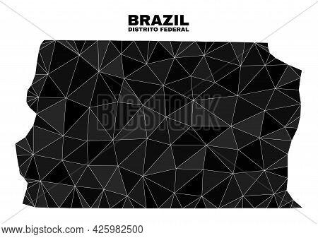 Lowpoly Brazil Distrito Federal Map. Polygonal Brazil Distrito Federal Map Vector Designed With Rand